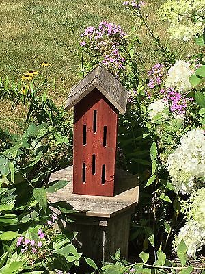 Butterfly House Barn Red Rustic Weathered Wood Usa Handmade