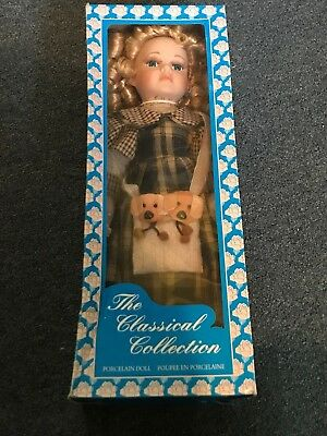 Early edition Classical Collection Porcelain Doll. Made by Nobility. with box