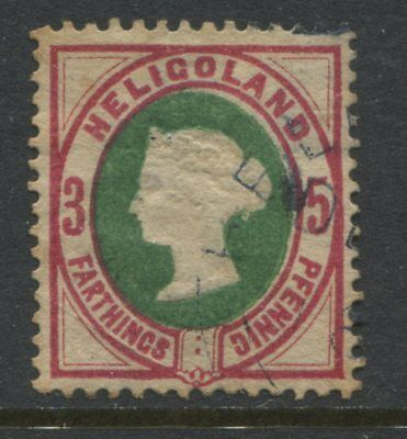 Heligoland QV 1875 3 farthings CDS used