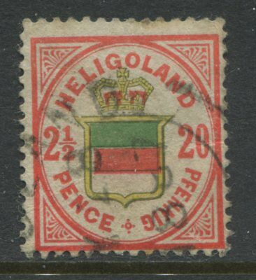 Heligoland QV 1875 2 1/2d/20 pfennings CDS used
