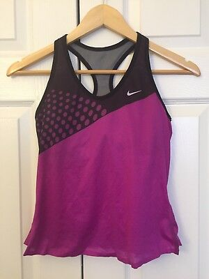 Nike Dri Fit Women's Bra Athletic Top Yoga Purple/Black Size S