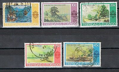 Trinidad & Tobago, 262-266 USED  COMPLETE SET  PAINTINGS ISSUE  1976