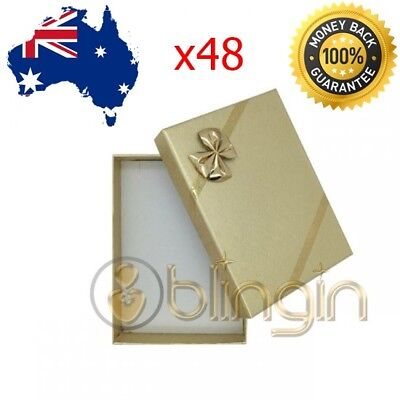 X48 Small Solid Premium Gold Set gift boxes, with bow 54X80X22MM. AU SELLER!!