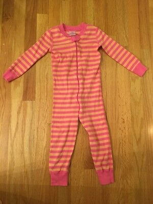 Girl's Hanna Andersson Organic Cotton Striped One Piece Pajamas Sz 90 3/3T