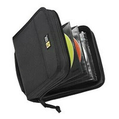 Case Logic CDW-32 Black Nylon CD Wallet-Holds 32 CD's or 16 w/notes