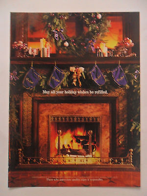 1998 Print Ad Crown Royal Whiskey ~ Holiday Wishes be Refilled