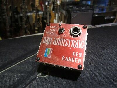 Vintage Circa 1973 Dan Armstrong Red Ranger Boost/EQ Effect Sounds Amazing Rare!