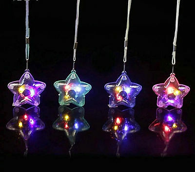 70Pcs Plastic Flashing Star Necklaces Mixed Color