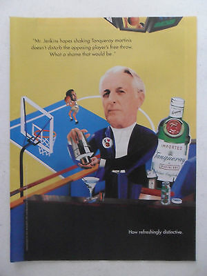 1995 Print Ad Tanqueray Gin Distilled English ~ Mr. Jenkins NBA Free Throw