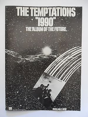 "1974 Print Ad Record Album Promo ~ The Temptations  ""1990"""