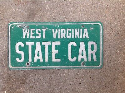 "West Virginia  - ""state Car"" - License Plate"