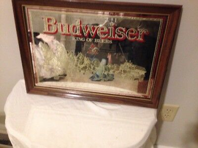Vintage Budweiser King of Beers Golden Clydesdale Mirror Sign 20.5 x 14.75