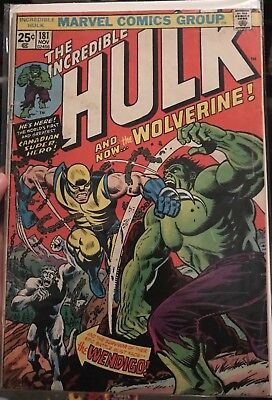 Incredible Hulk #181. 1st appearance of Wolverine ! Major Key issue !