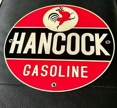Hancock Motor Oil Gas gasoline sign ...FREE ship on any 10 signs
