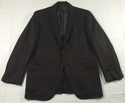 vtg Mod 1965 Richman Brothers Brown Wool Suit 42 L 36W x 32.5L