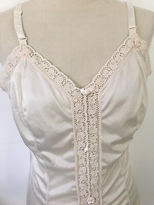 Vintage Camelot Apparel Chemise Tank 3503 SOFT Nylon Lacey Camisole