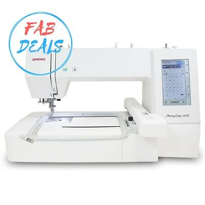 Janome Memory Craft 400E Embroidery Machine with Exclusive Bonus Bundle
