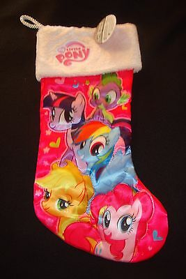 My Little Pony Character Satin  Christmas Stocking Nwts  Furry Top