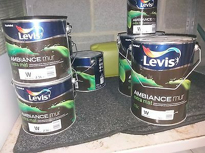 NEUF 300 euros !!!! 12litres LEVIS verf peinture AMBIANCE extra mat