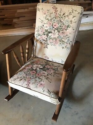 Pair Of Solid Vintage Rocking Chairs