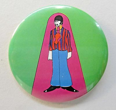 "3.5"" RINGO STARR Beatles YELLOW SUBMARINE Primrose Confection pinback button"