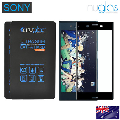NUGLAS SONY XPERIA XZ PREMIUM FULL 3D SCREEN PROTECTOR Curved TEMPERED GLASS