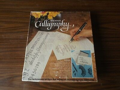 A Sheaffer Brand Boxed Calligraphy Set,nibs Ink Etc.