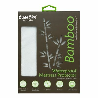 Bubba Blue Baby Bamboo Waterproof Fitted Mattress Protector Cradle Crib Size