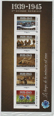 France WWII Rememberance Stamps 1939-1945 5 Adhesive stamps set