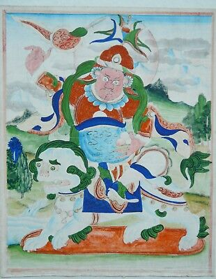 Antique Thangka Tibet/Nepal Buddha- hand painted on fabric. Very old. Attractive