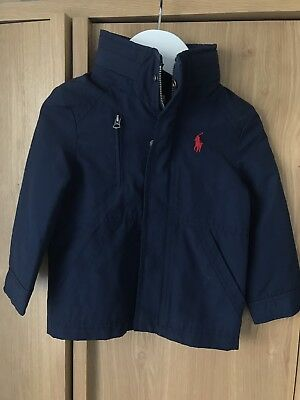 Ralph Lauren Boys Navy Blue Jacket Coat 18m Next