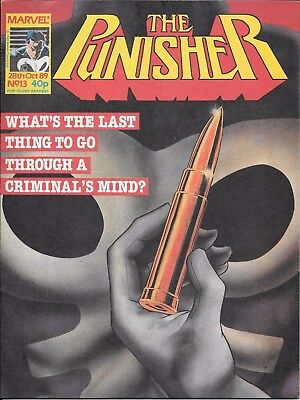 Marvel Punisher comics x3 issues from 1989 No's 8,11,13
