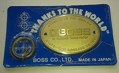 Boss Badge Decal Roland Boss Thanks To The World 3,000,000 Units Sold 1976-1985