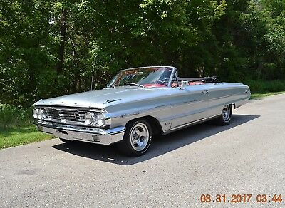 1964 Ford Galaxie 500 XL 2 DOOR CONVERTIBLE 1964 GALAXIE 500XL CONVERTIBLE P-CODE 390 BEAUTFIUL SILVER WITH RED INTERIOR