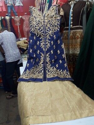 Readymade Indian Wedding Partywear Stitched Women Indowestern Long Top & Skirt
