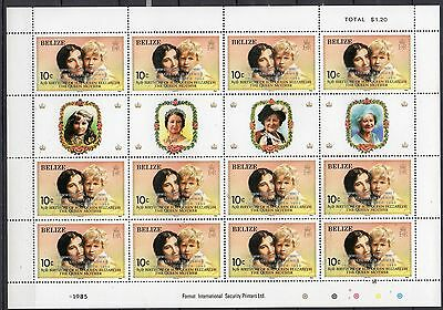 Belize Stamps 1985 Ovpt Commonwealth Summit Conference Mnh Complete Sheets