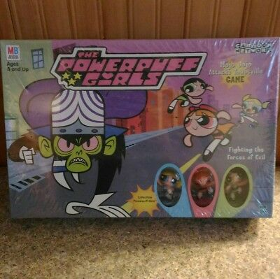 RARE SEALED 2000 Powerpuff Girls Mojo Jojo attacks Townsville board game MB NEW!