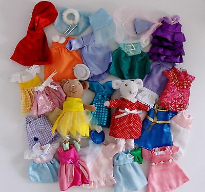 Angelina Ballerina & Alice Soft Toys with Loads of clothes