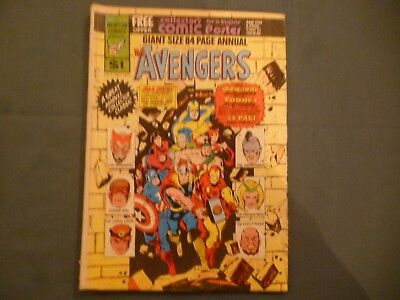 The Avengers Giant Size 84 Page Annual # 1. Newton Comics 1975 Aus reprint