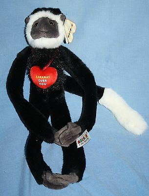 Bananas Over You VALENTINE MONKEY Aurora Soft Toy Stuffed Plush Heart Long Arms