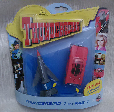 THUNDERBIRDS-Thunderbird 1 & Fab 1- 40th Anniversary Set - 3 Phrases-RARE - NEW
