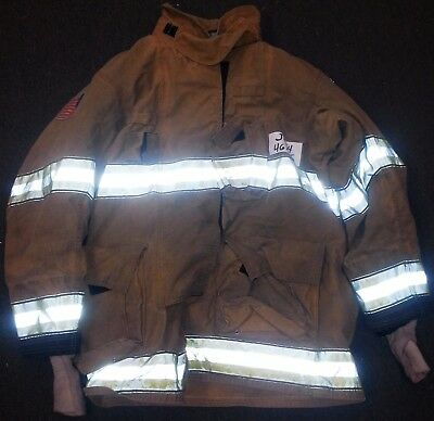 46x35 Firefighter Jacket Coat Bunker Turn Out Gear Globe Gxtreme  J434