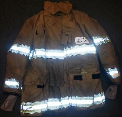 46x35 Firefighter Jacket Coat Bunker Turn Out Gear Globe  J426