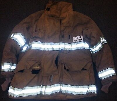 54x35 Firefighter Jacket Coat Bunker Turn Out Gear Globe Gxtreme     J425