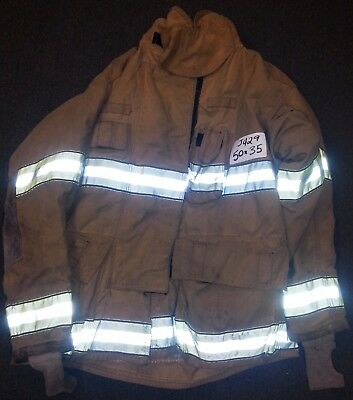 50x35 Firefighter Jacket Coat Bunker Turn Out Gear Globe Gxtreme  J429
