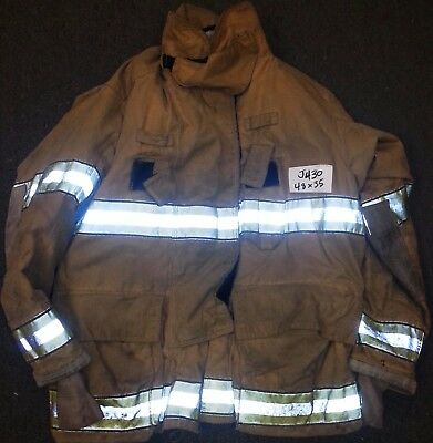 48x35 Firefighter Jacket Coat Bunker Turn Out Gear Globe Gxtreme  J430