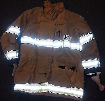 46x35 Firefighter Jacket Coat Bunker Turn Out Gear Globe Gxtreme  J443