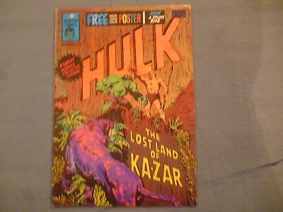 Hulk # 12 comic with poster. Newton Comics 1975 Aus reprint