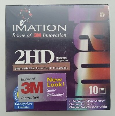 10 x Imation 2HD floppy disks (new old stock)