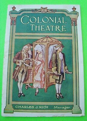 "1920 COLONIAL THEATRE Boston GEORGE M. COHAN OPERA ""ROYAL VAGABOND"" Program 52-p"